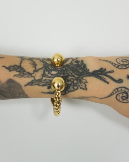 Twist Gold Bracelet