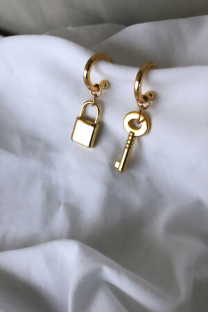 Brinco Key Padlock Gold