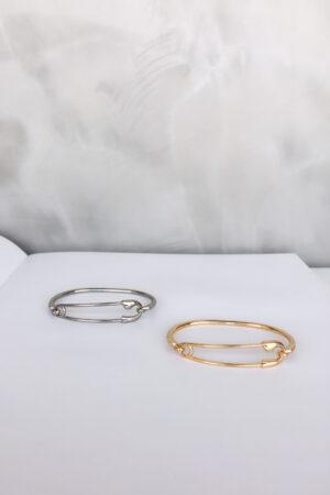 Bracelete Alfinete Prata
