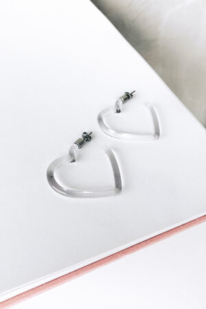 Brinco Crystal Heart