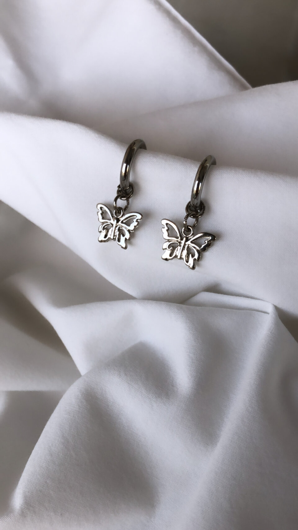 Brinco Silver Butterfly