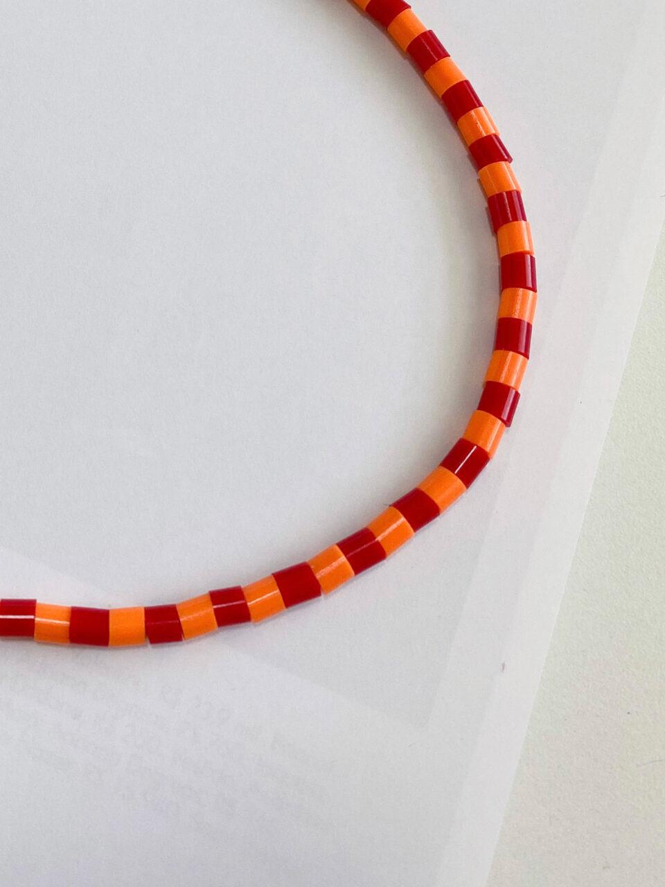 Colar Orange Stripes