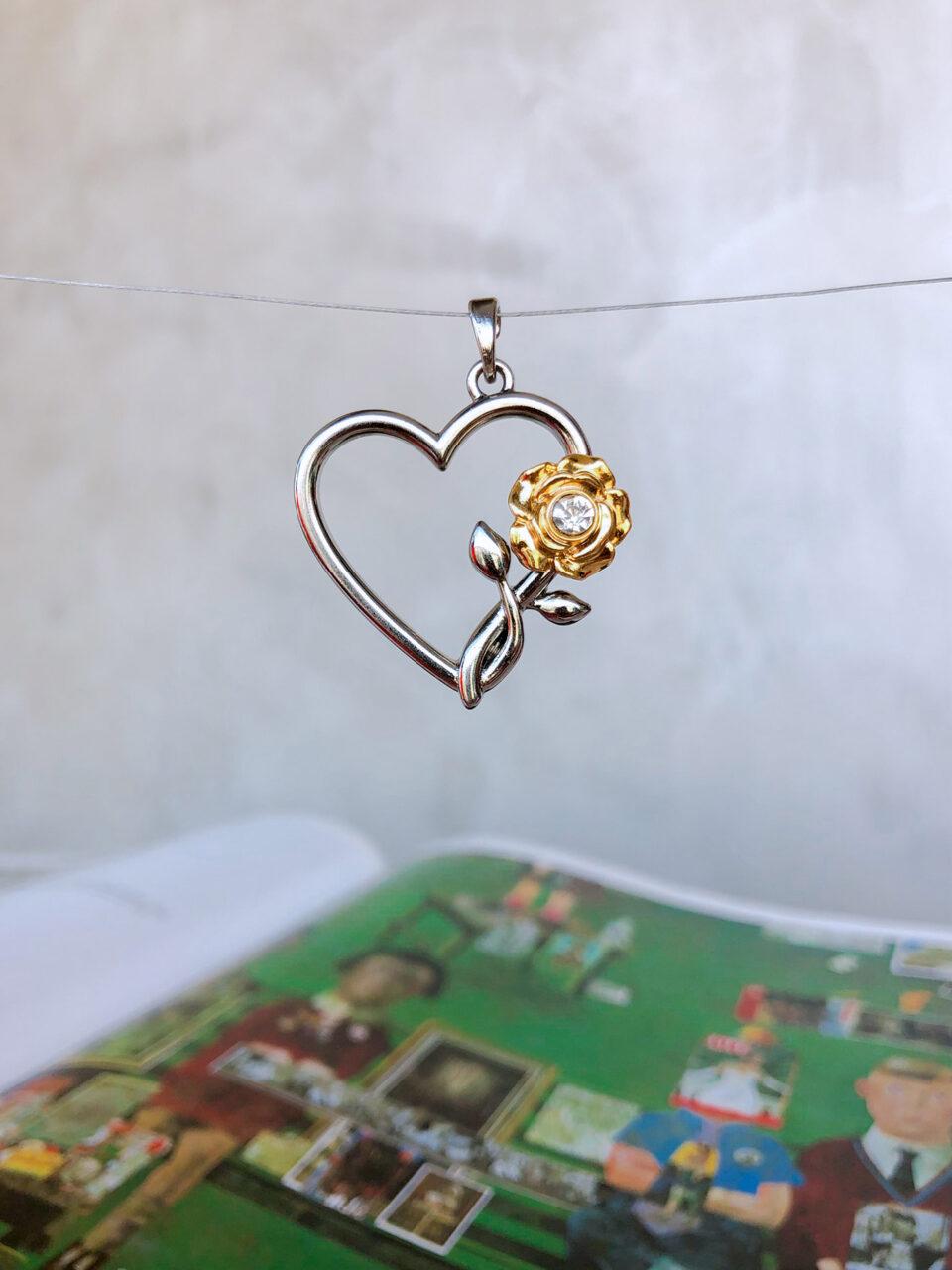 Pingente Rose & Heart