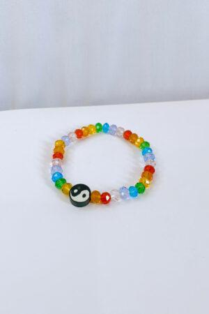 Pulseira Rainbow Yin Yang